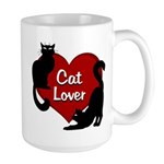 Fat Cat & Cat Lover 15 oz Ceramic Large Mug