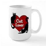 Fat Cat & Cat Lover 15 oz Ceramic Large Mug