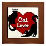 Fat Cat & Cat Lover Framed Tile