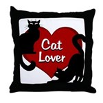 Fat Cat & Cat Lover Throw Pillow