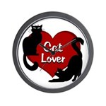 Fat Cat & Cat Lover Wall Clock