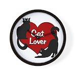 Fat Cat & Cat Lover Wall Clock