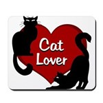 Fat Cat & Cat Lover Mousepad