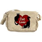 Fat Cat & Cat Lover Messenger Bag