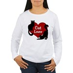 Fat Cat & Cat Lover Women's Long Sleeve T-Shirt