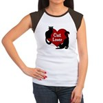 Fat Cat & Cat Lover Junior's Cap Sleeve T-Shirt