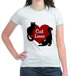 Fat Cat & Cat Lover Jr. Ringer T-Shirt