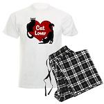 Fat Cat & Cat Lover Men's Light Pajamas