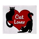 Cat Lover Cute Fat Cat Throw Blanket