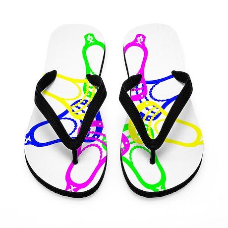 Lacrosse Neon Heads Flip Flops