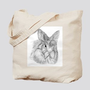 Fluffy Bunny Tote Bag