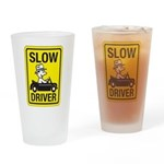 Slow Driver Drinking Glass