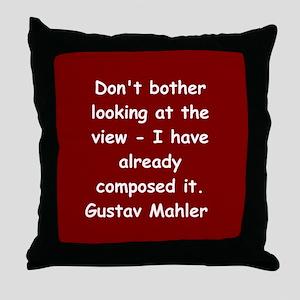 Gustav Mahler Throw Pillow