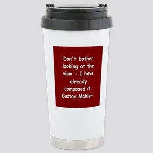 Gustav Mahler Stainless Steel Travel Mug
