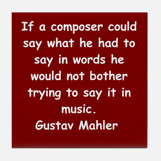 Gustav Mahler Tile Coaster