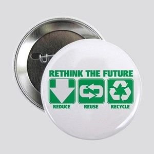 "Rethink The Future, Recycle 2.25"" Button"