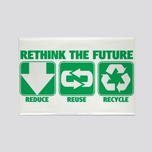 Rethink The Future, Recycle Rectangle Magnet