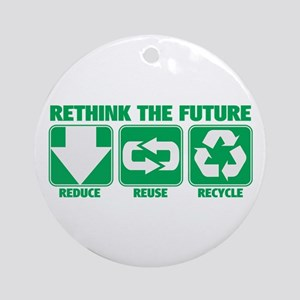 Rethink The Future, Recycle Ornament (Round)