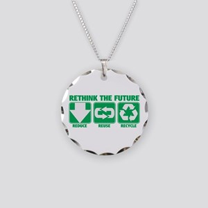 Rethink The Future, Recycle Necklace Circle Charm