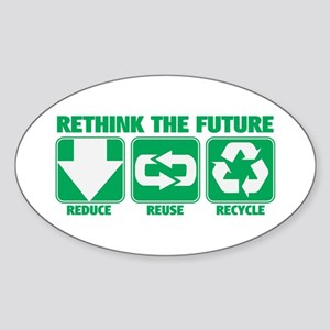 Rethink The Future, Recycle Sticker (Oval)