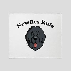 Newfies Rule Throw Blanket