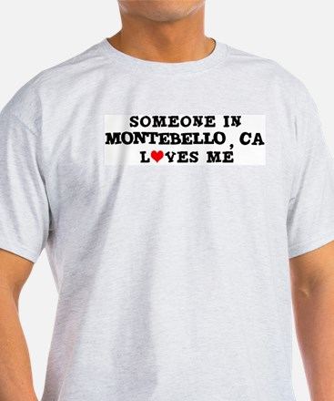 Someone in Montebello Ash Grey T-Shirt