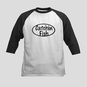 Catchin Fish Kids Baseball Jersey