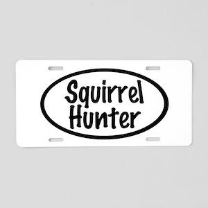 Squirrel Hunter Aluminum License Plate