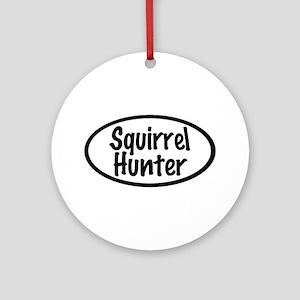 Squirrel Hunter Ornament (Round)