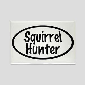 Squirrel Hunter Rectangle Magnet