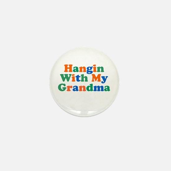 Hanging With My Grandma Mini Button