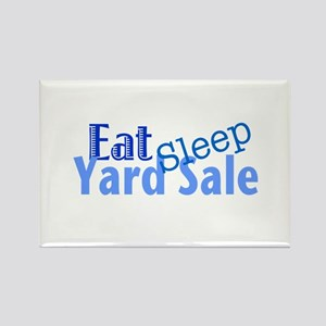 Eat Sleep Yard Sale Rectangle Magnet