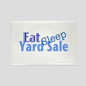 Eat Sleep Yard Sale Rectangle Magnet