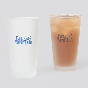 Eat Sleep Yard Sale Drinking Glass