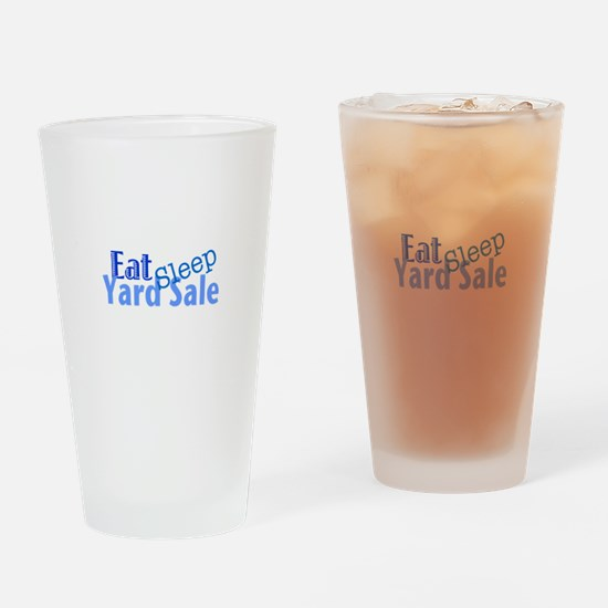 Eat Sleep Yard Sale Drinking Glass