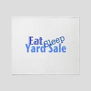 Eat Sleep Yard Sale Throw Blanket
