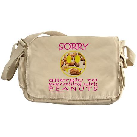 ALLERGIC TO PEANUTS Messenger Bag