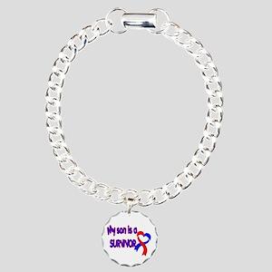 Son CHD Survivor Charm Bracelet, One Charm