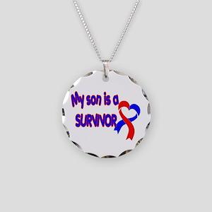 Son CHD Survivor Necklace Circle Charm