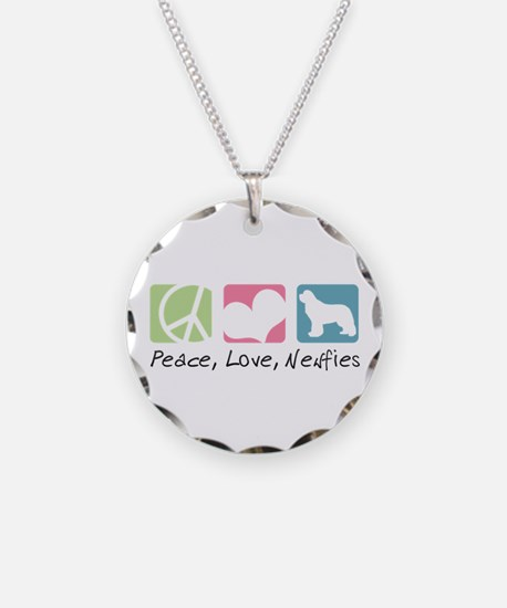 Peace, Love, Newfies Necklace