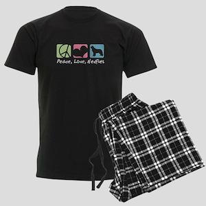 Peace, Love, Newfies Men's Dark Pajamas