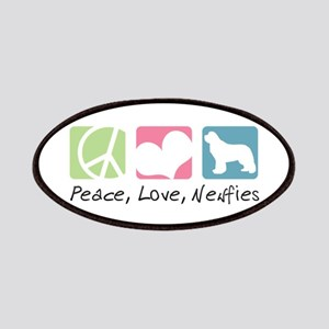 Peace, Love, Newfies Patches
