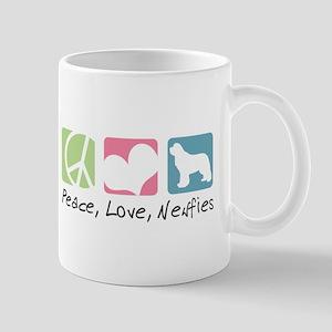 Peace, Love, Newfies Mug