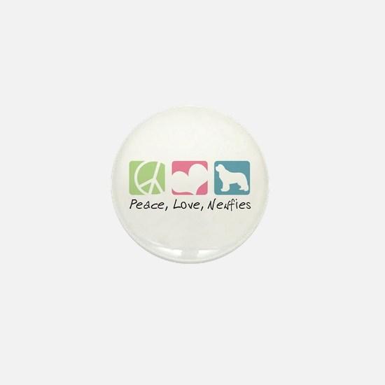Peace, Love, Newfies Mini Button