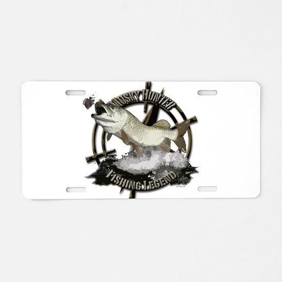 Fishing legend Aluminum License Plate