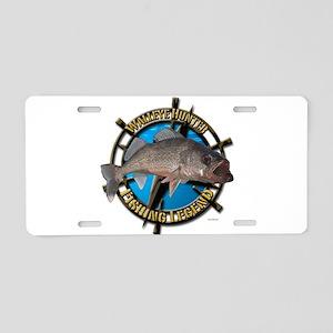Walleye hunter Aluminum License Plate