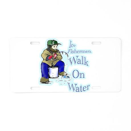 Ice Fishing Aluminum License Plate
