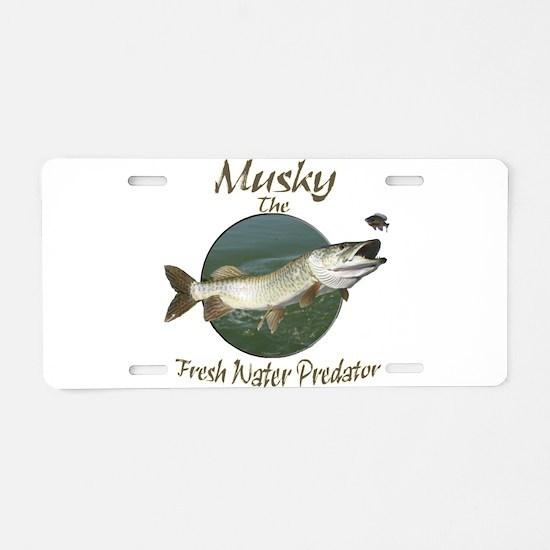 Musky,Fresh Water Predator Aluminum License Plate