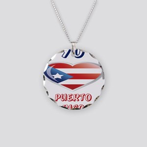 PUERTORICO Necklace Circle Charm