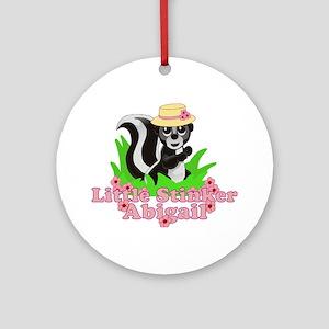 Little Stinker Abigail Ornament (Round)